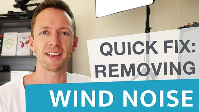 Removing Wind Noise in Videos: Quick Fix - Microphone
