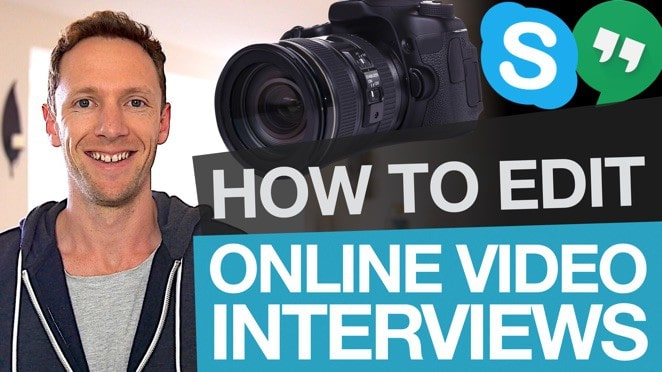 Editing Online Interviews: How to Edit Skype Interview Footage - Camera lens