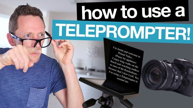 How To Use a Teleprompter for Videos! - Video editing software