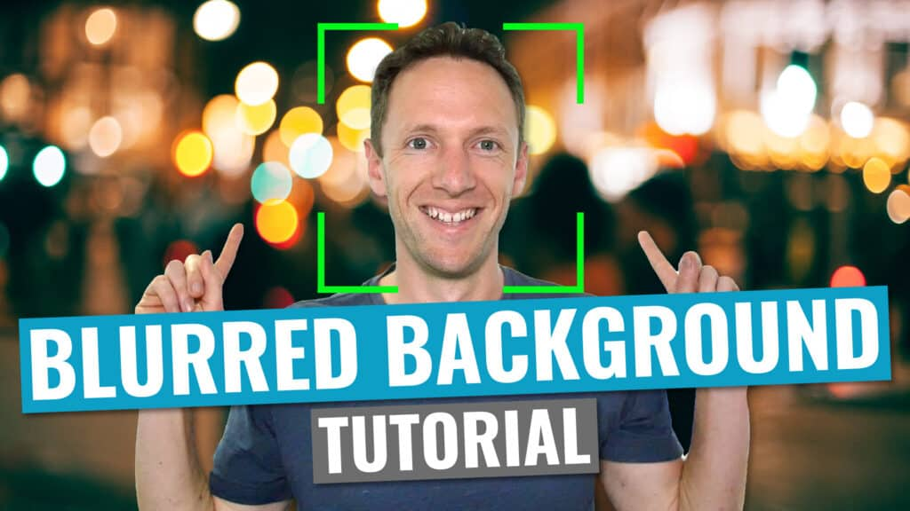How to Get a Blurred Background in Videos DSLR, Camera AND Smartphone Tutorial!