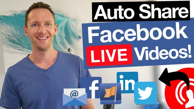 Automatically Share Facebook Live Videos When You Go LIVE! - T-shirt