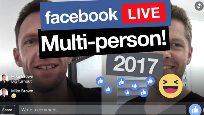 Facebook Live With 2 People! (how to add guests into your Facebook Live stream) - Microphone