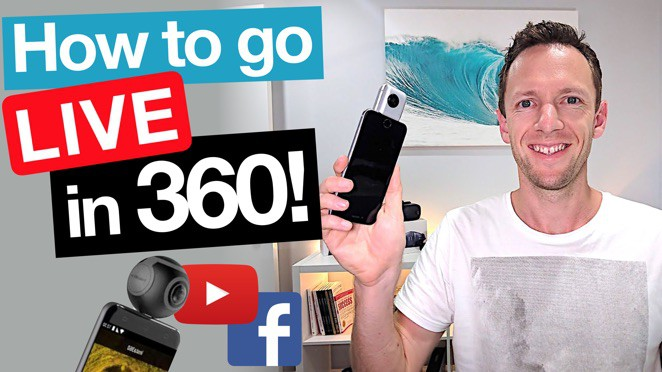 360 Live Streaming Tutorial: 360 Degree Video on Facebook Live and YouTube! - Immersive video