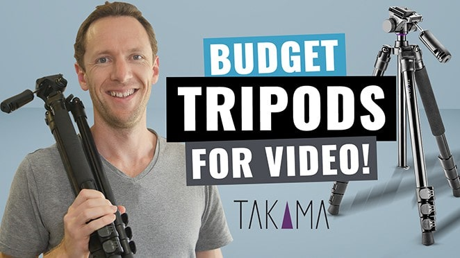 Best Budget Tripod for Video? Takama Flip-Zip Review! - Microphone