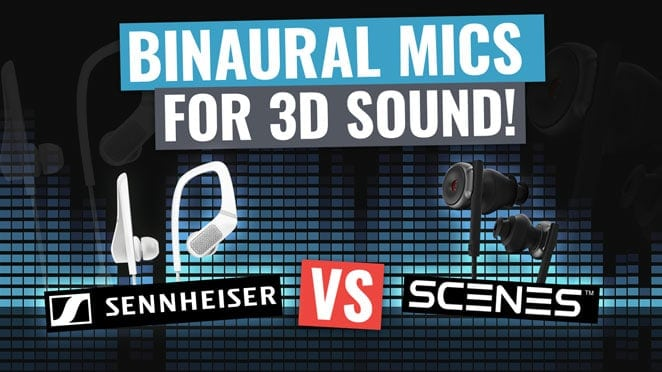 Binaural Microphones for 3D Sound: Sennheiser Smart Headset vs Scenes Lifelike! - Logo