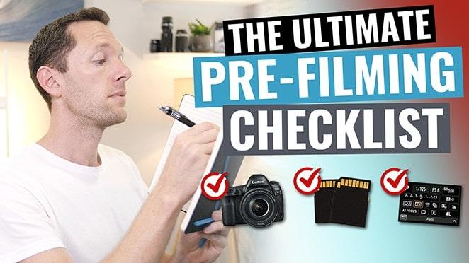 pre-shoot video checklist