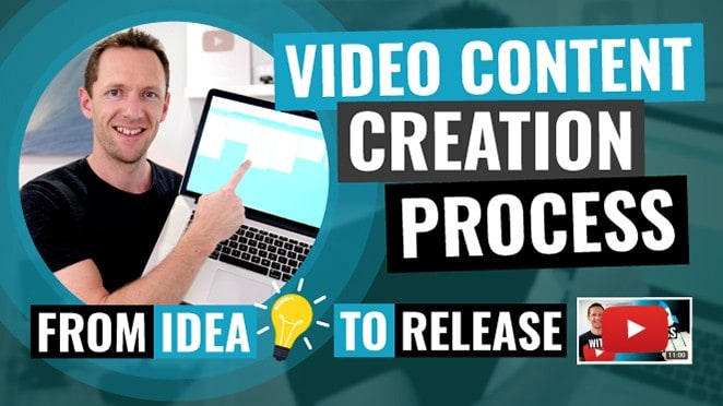 video content creation process youtube video idea to release