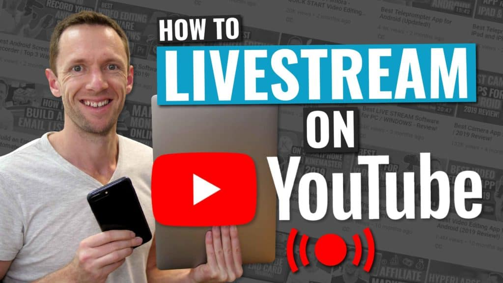 how to livestream on youtube