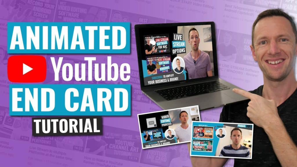 How to Make a YouTube End Card Template (Updated & ANIMATED!)