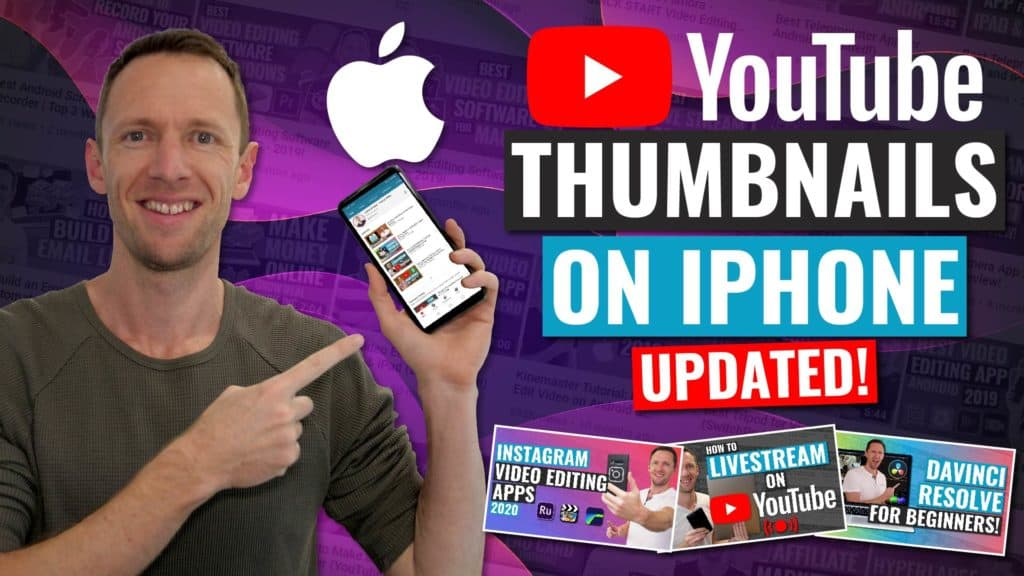 How to Make & Upload a YouTube Thumbnail on iPhone (UPDATED!)