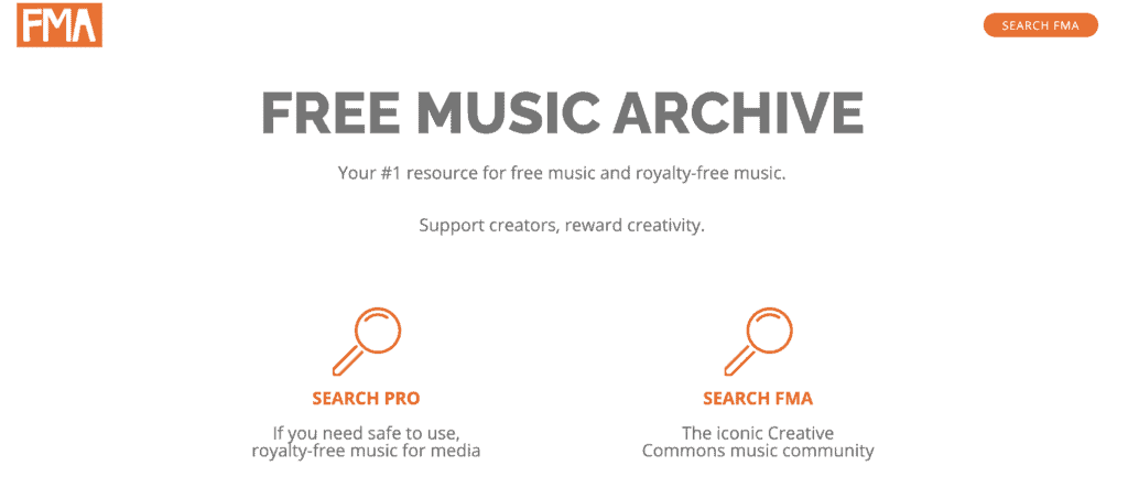 Free Music Archive's website