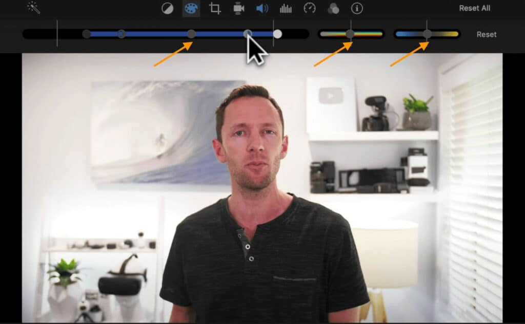 Adjust the White Balance, Brightness and Color settings