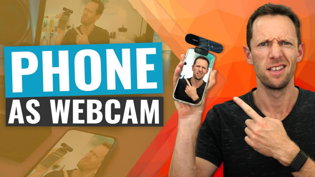 How to Use Your PHONE as a Webcam (iPhone & Android!)