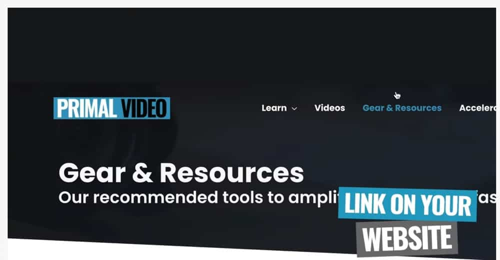 Make sure you link to your resources page on your website homepage so it's quick and easy for people to access